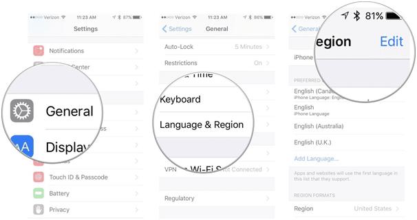 apple news app - language