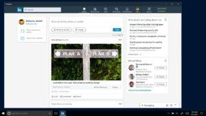 LinkedIn windows app