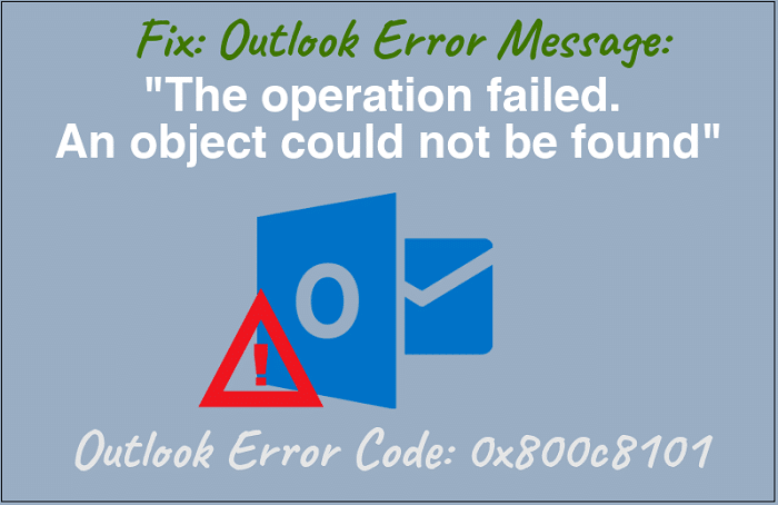 Outlook error code 0X800C8101