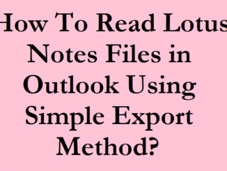 Lotus Notes Files