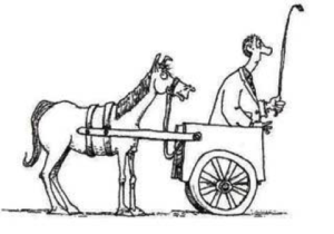 cartoon-of-horse-and-buggy