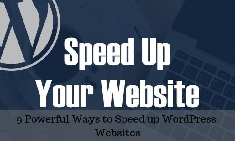 Speed up WordPress Websites
