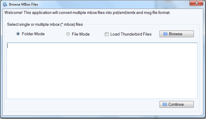 browse MBox files