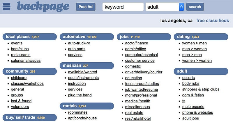 Backpage alternative sites