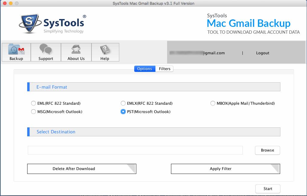 Gmail Backup Tool for Mac