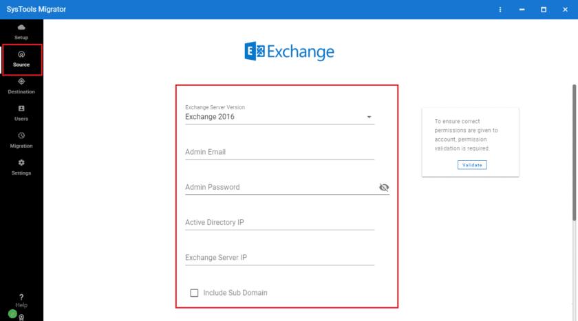 Exchange Server details