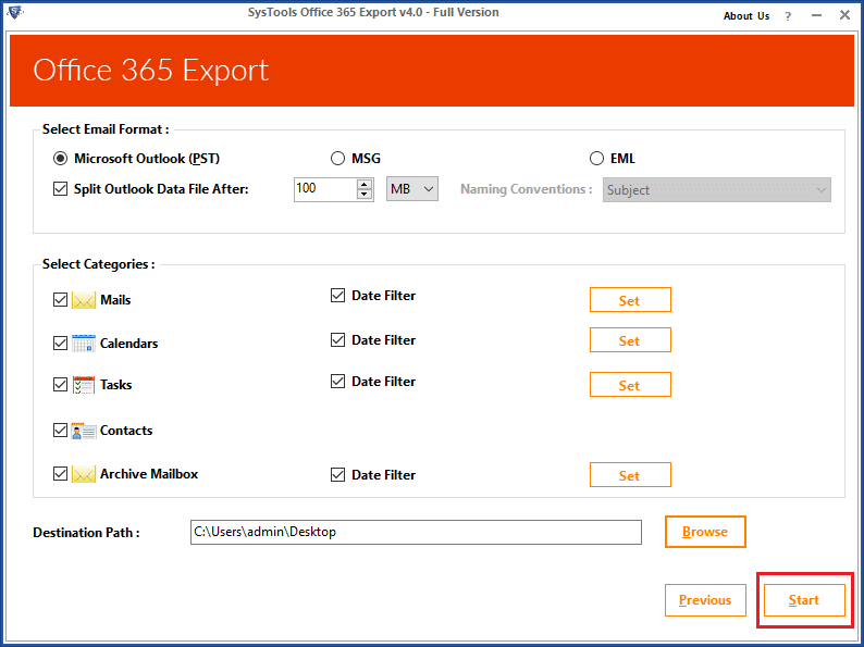 Office 365 contacts export