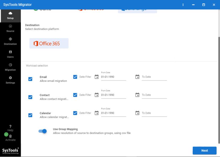 Emails, Contacts, Calendar