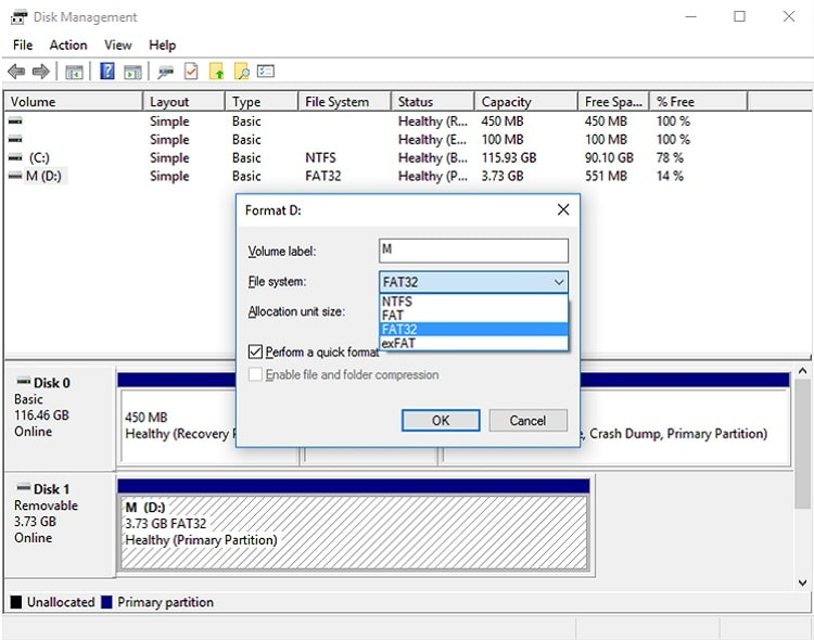 FAT32 file system