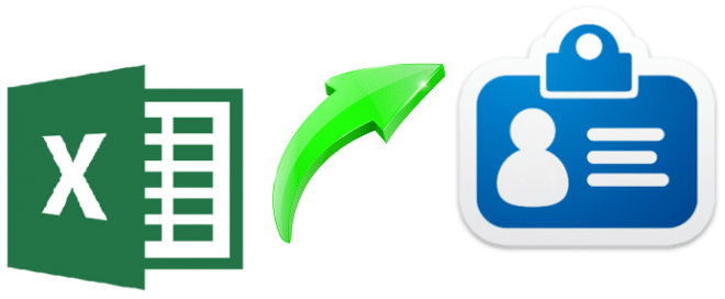 Convert Excel to VCF Mac