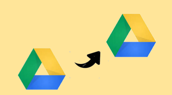 copy folder from a google drive to another