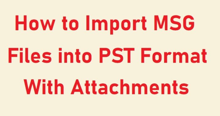 import MSG files into PST