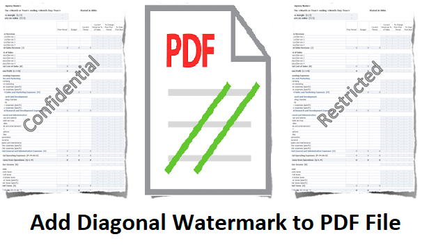 Add diagonal watermark to PDF